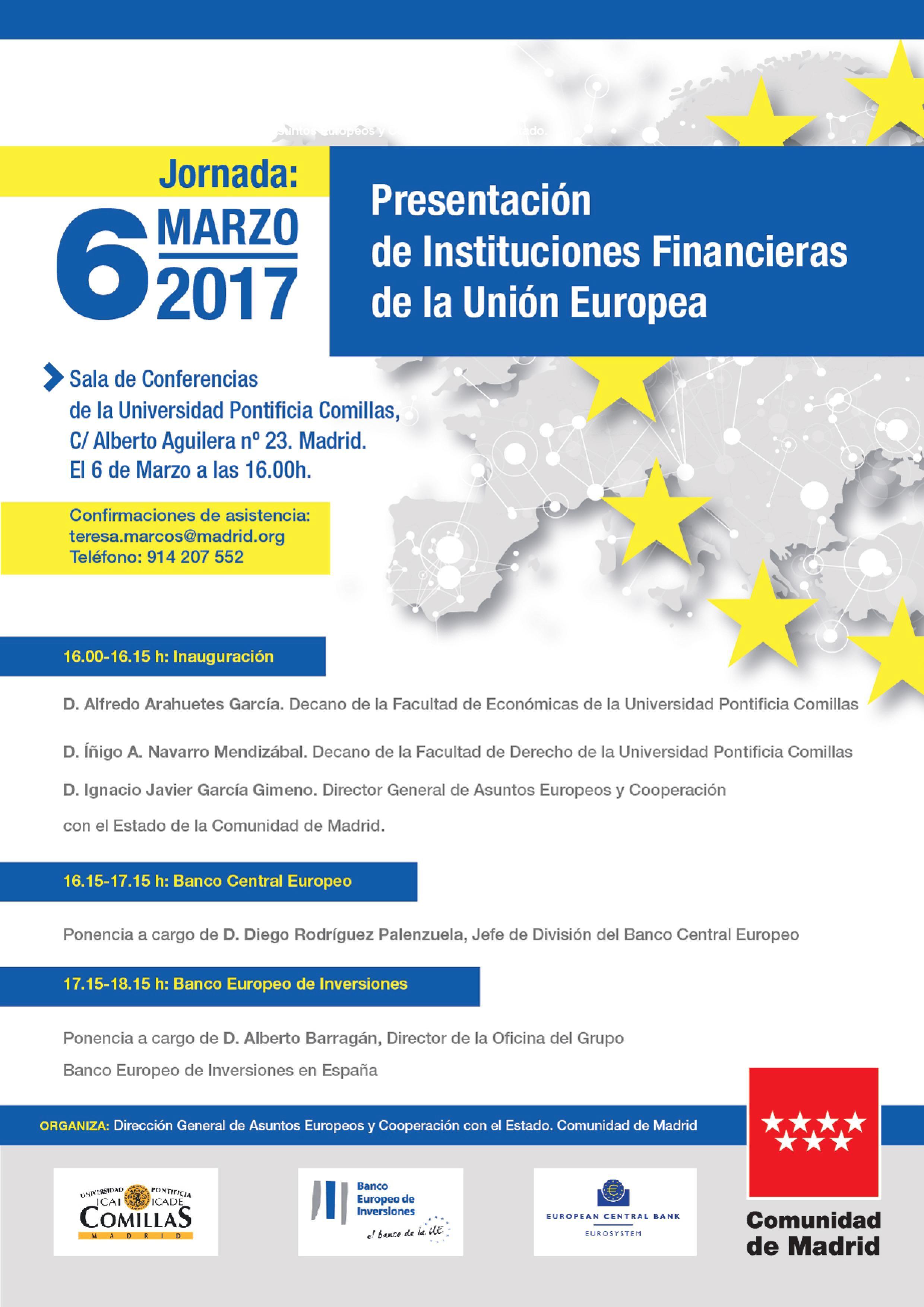 jonadas presentacion instituciones financieras de la union europea