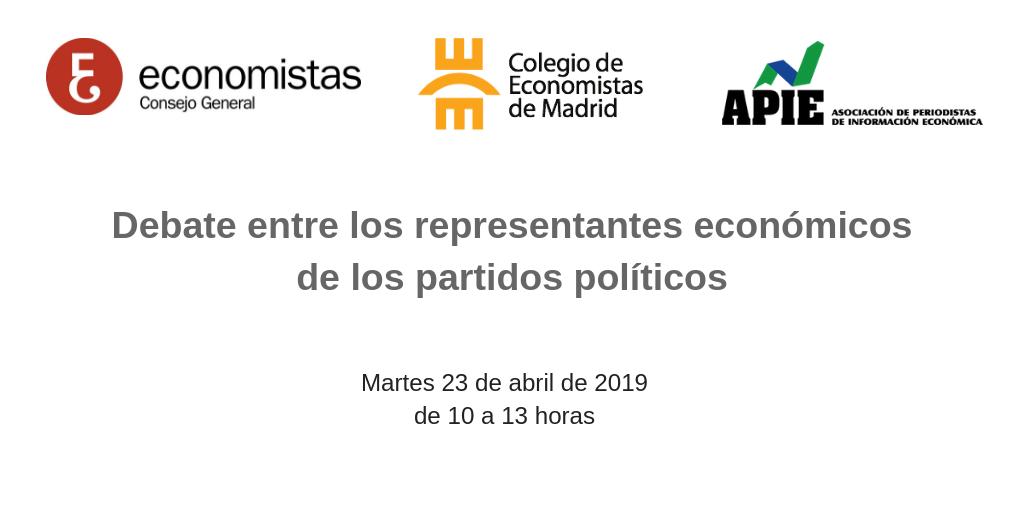 Debate entre los representantes económicos de los partidos políticos