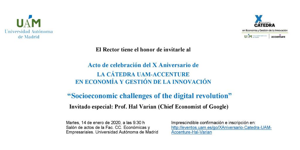 X aniversario de la Cátedra UAM-Accenture en economía y gestión de la innovación