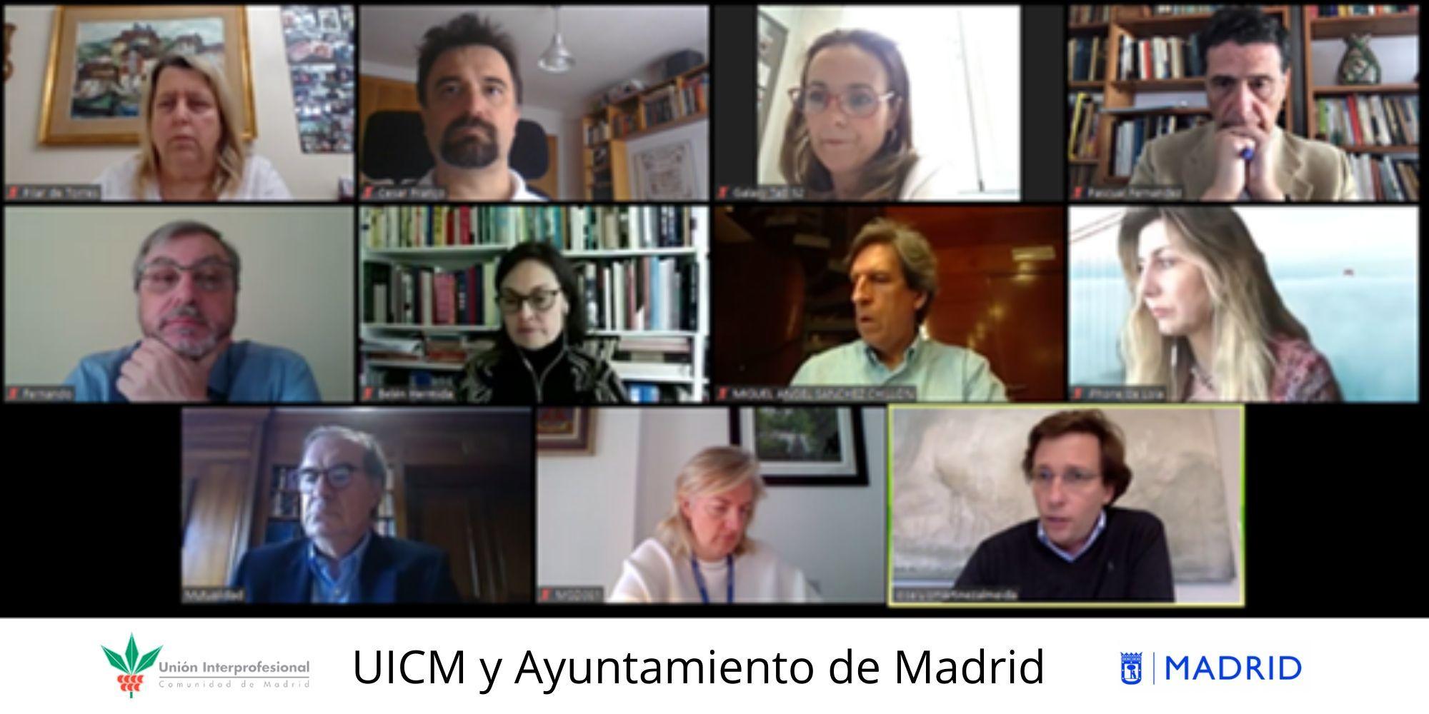 Unión Interprofesional de la Comunidad de Madrid y el Ayuntamiento de Madrid colaborarán para volver a convertir a Madrid en una potencia y en referente mundial del desarrollo económico y social