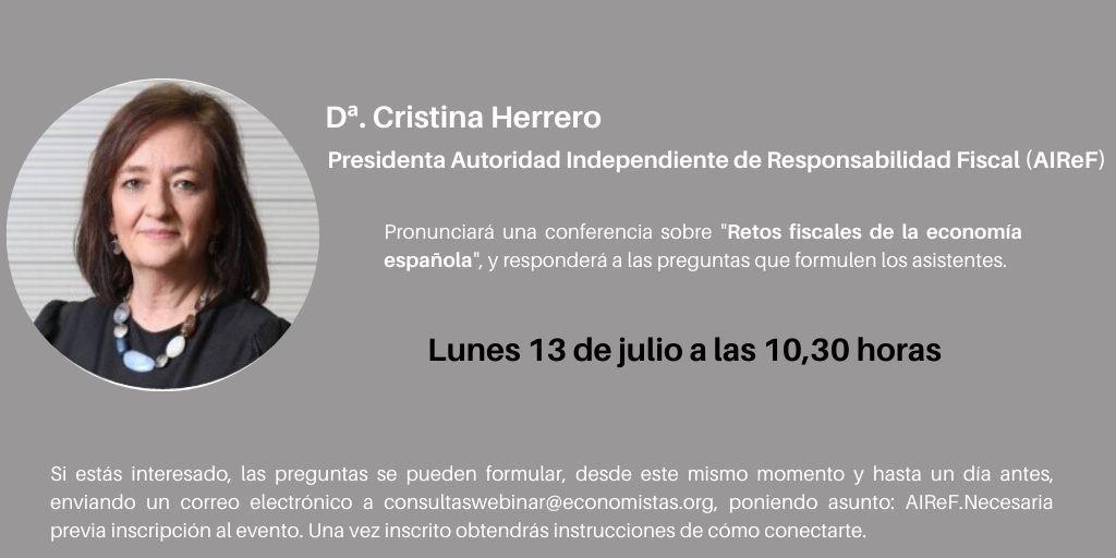 Líderes en directo con Dª Cristina Herrero