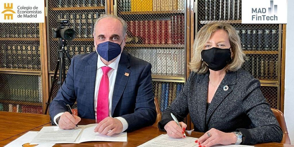 Acuerdo entre el Colegio de Economistas de Madrid y la Asociación Clúster Madrid Capital Fintech (MAD FinTech)