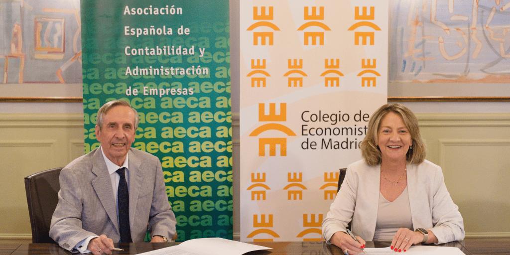 El Colegio de Economistas de Madrid y AECA y renuevan el convenio de colaboración institucional