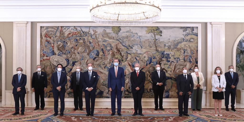 S.M. el Rey recibe a la Junta Directiva de Unión Interprofesional de la Comunidad de Madrid (UICM)