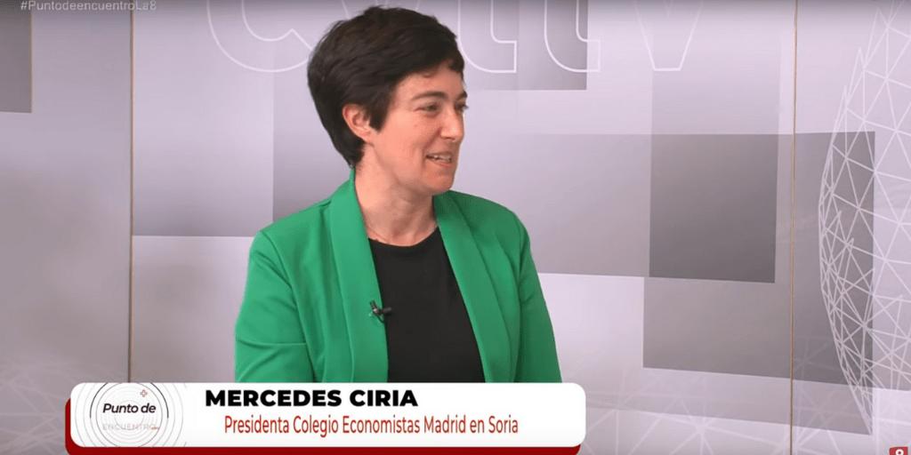 Mercedes Ciria, Presidenta de la Sección de Soria del Colegio de Economistas de Madrid, en Punto de Encuentro